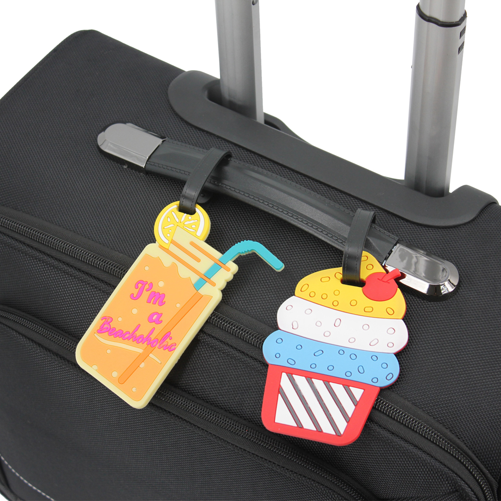 ce84582f0f88 Mziart Funny Luggage Tags for Kids Women Girls Travel Baggage Tags Suitcase  Bag Lables, Set of 5 (Icecream, Drinks, Popsicle)
